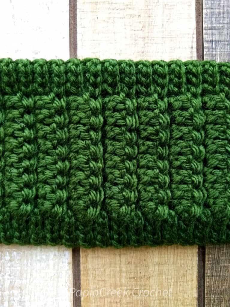 Close up of stitch work